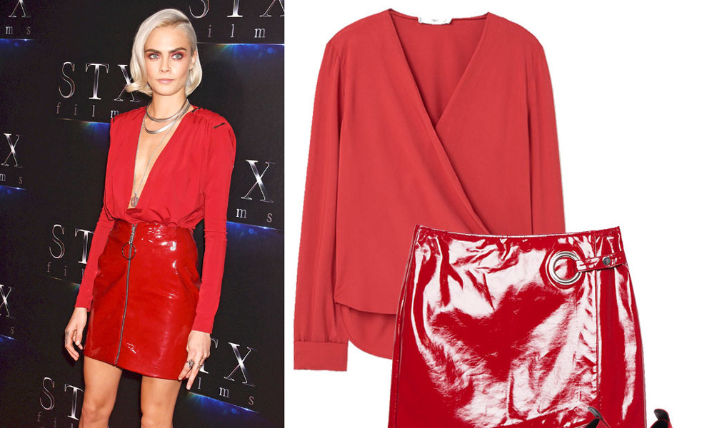 Copia el 'total look red' de Cara Delevingne