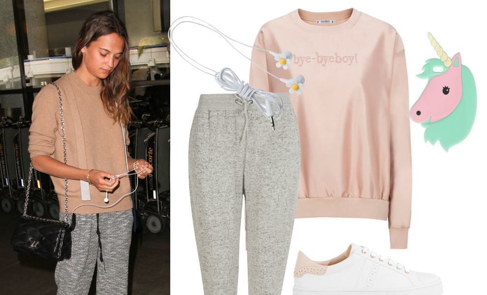 Look sporty, by Alicia Vikander