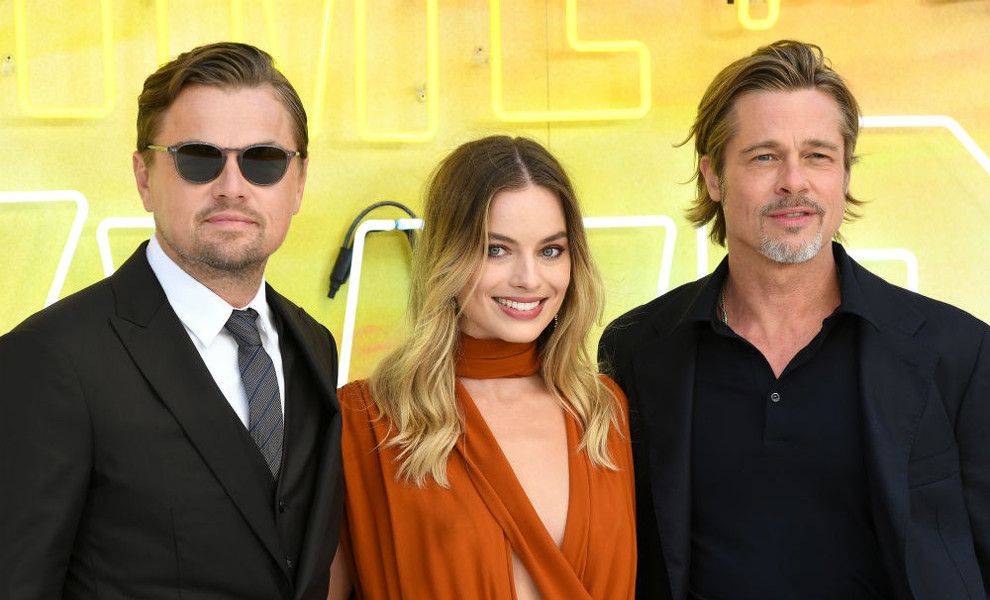 Margot Robbie brilla junto a Brad Pitt y Leonardo Dicaprio en el estreno de 'Once upon a time in Hollywood'