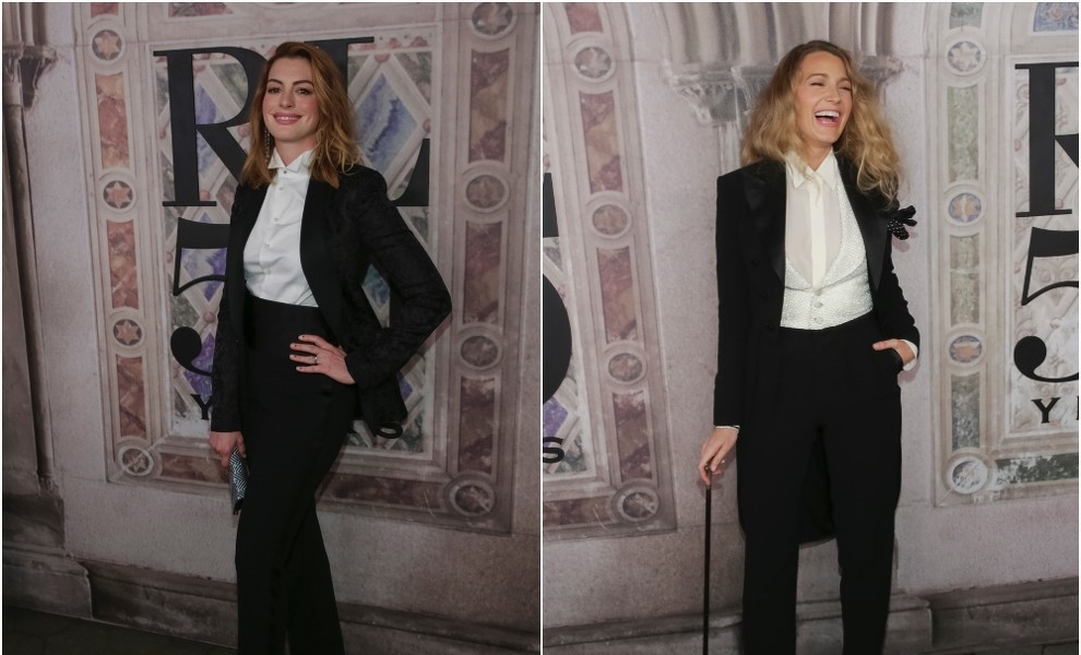 Duelo de chaqués: Blake Lively y Anne Hathaway